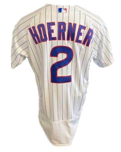 Photo of Nico Hoerner Team-Issued Jersey -- Mother's Day 2021 -- Pirates vs. Cubs -- 5/9/21 -- Size 44