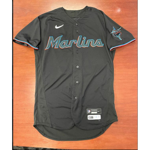Photo of 2021 Auction: Bryan De La Cruz Game-Used Jersey HR #2 - First Career Grand Slam - Miami Marlins vs. Chicago Cubs 08/13/21
