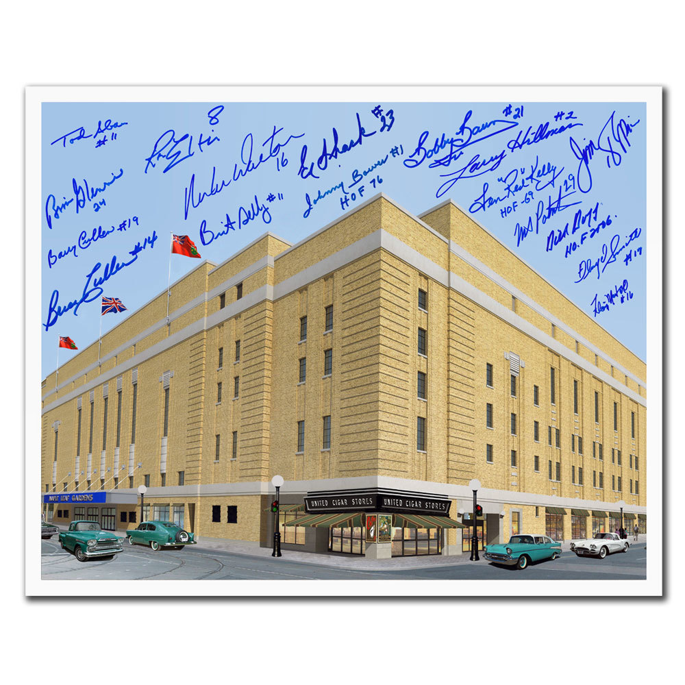 Maple Leaf Gardens Toronto Maple Leafs Legends Autographed 16x20 Signed by 17