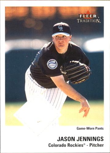 Photo of 2003 Fleer Tradition Game Used #200 Jason Jennings AW Pants