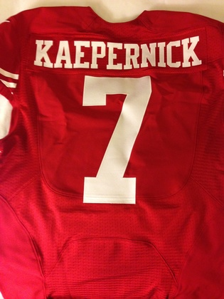 huge discount 33d29 6e8cf NFL Auction | COLIN KAEPERNICK GAME WORN 49ERS JERSEY ...