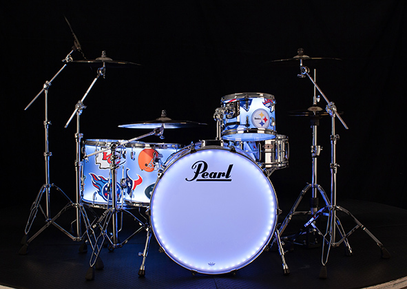 Chad Smith's Super Bowl Halftime Show Drum Kit - AFC