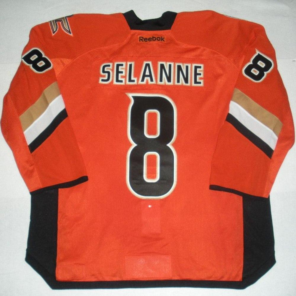 release date 0cb55 abfc2 Teemu Selanne - 2014 Stadium Series - Anaheim Ducks - Orange ...
