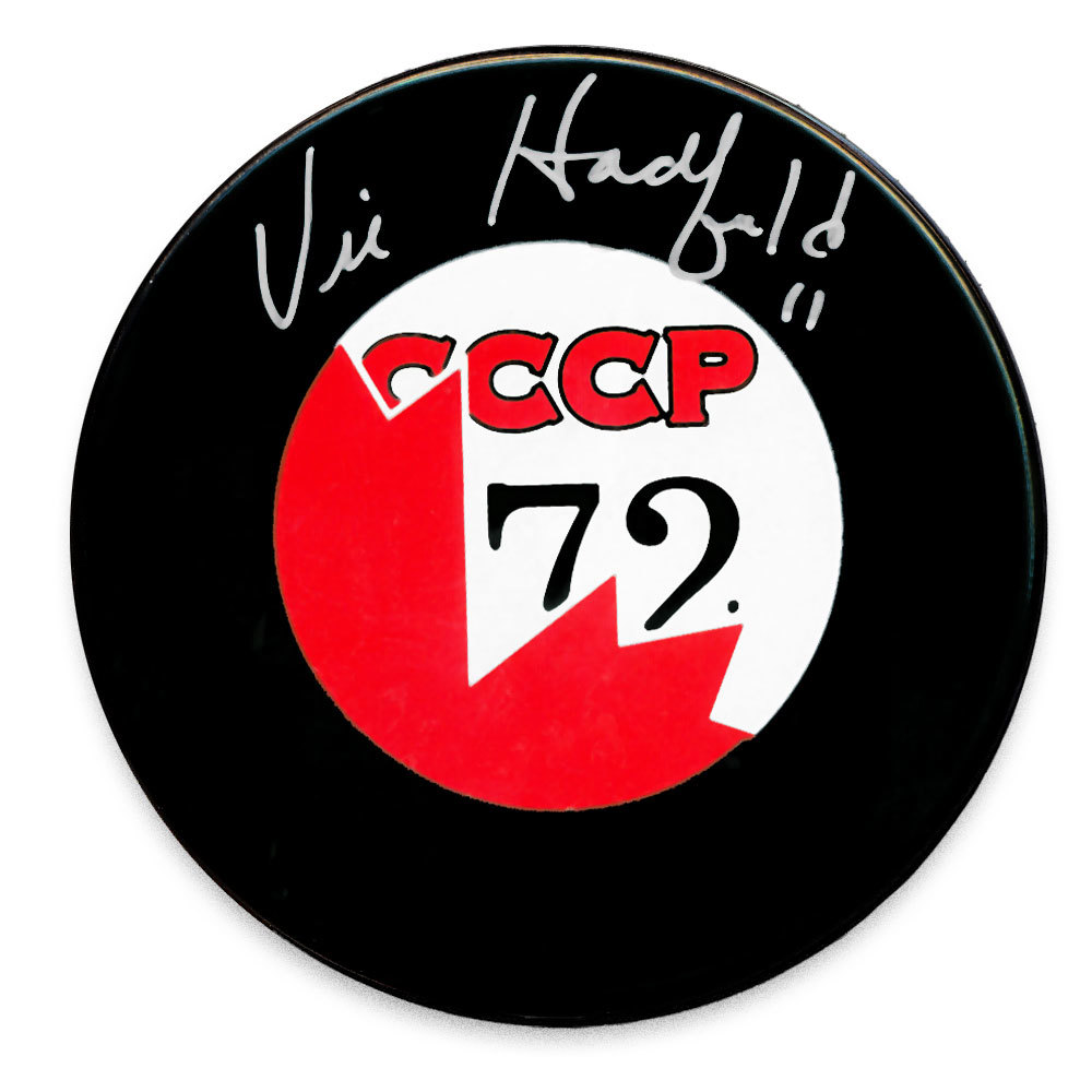 Vic Hadfield Team Canada 1972 Summit Series Autographed Puck