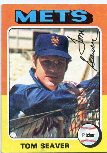 Photo of 1975 Topps #370 Tom Seaver -- Hall of Famer