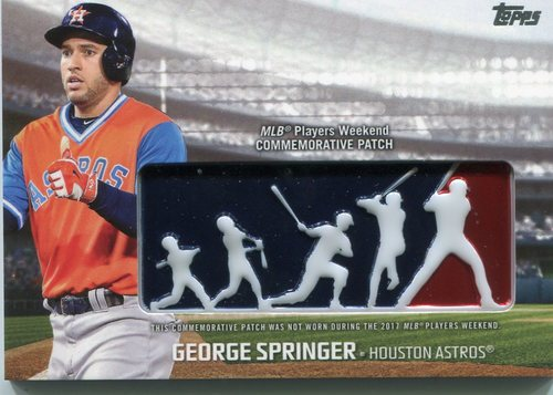 Photo of 2018 Topps Players Weekend Patches #PWPGSP George Springer