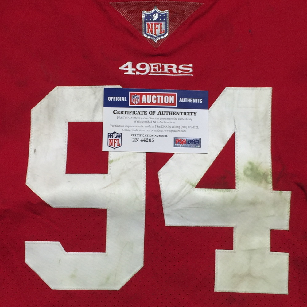 41f22caf1 ... STS - 49ERS SOLOMON THOMAS GAME WORN 49ERS JERSEY (NOVEMBER 26, 2017)  SIZE