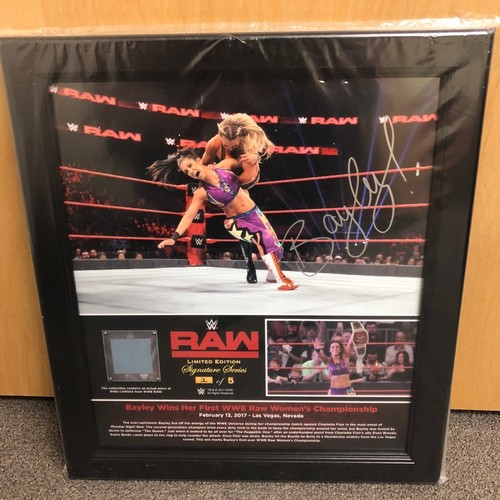Bayley SIGNED RAW Signature Series Ring Canvas Plaque (#2 of 5)