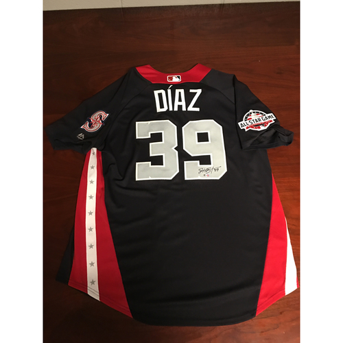 Photo of Edwin Diaz 2018 Major League Baseball Workout Day Autographed Jersey