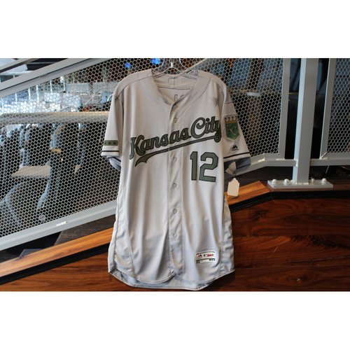 Photo of Game-Used Memorial Day Jersey: Jorge Soler (Size 44 - KC @ TEX - 5/27/18)