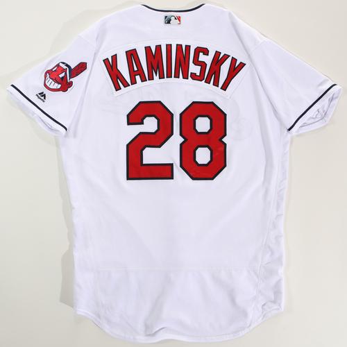 Photo of 2018 Arizona Fall League Game-Used Jersey - Rob Kaminsky -Size 46