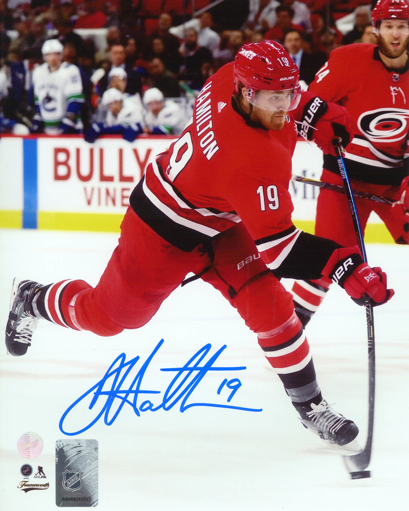 Dougie Hamilton Signed 8x10 Unframed Hurricanes Shooting