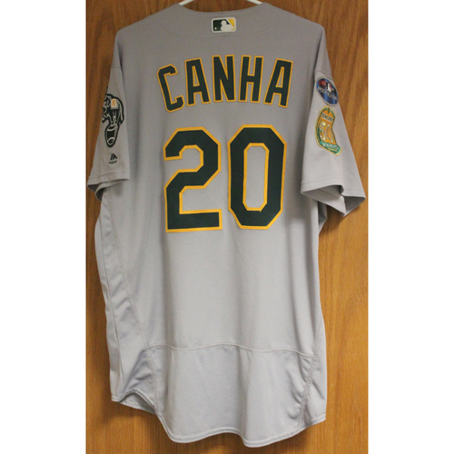 Photo of Game-Used Mark Canha 2018 Jersey