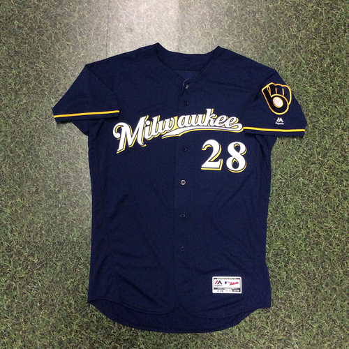 Photo of Curtis Granderson 2018 Team-Issued Navy Ball & Glove Jersey