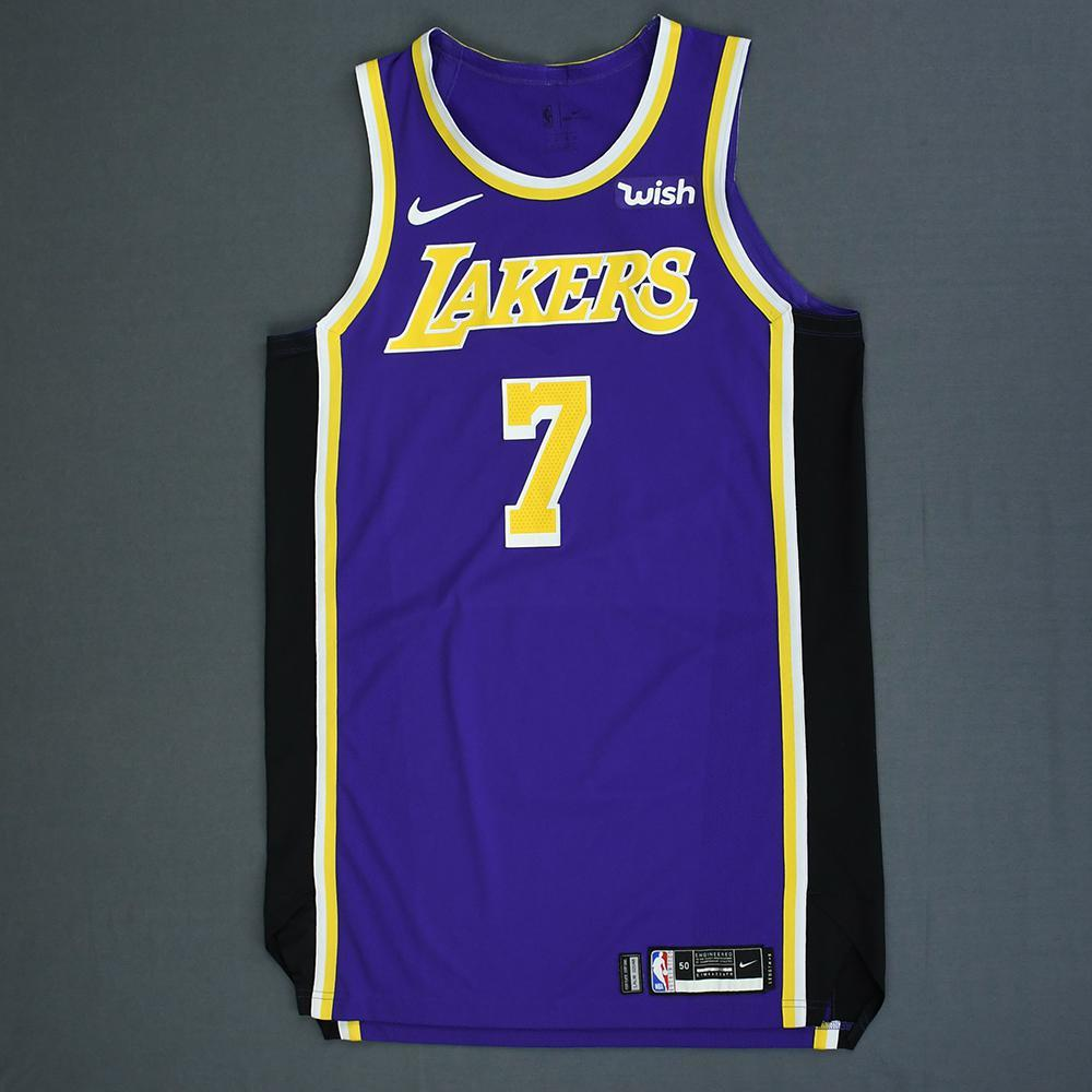 newest 97a04 b35d8 JaVale McGee - Los Angeles Lakers - Game-Worn Statement ...