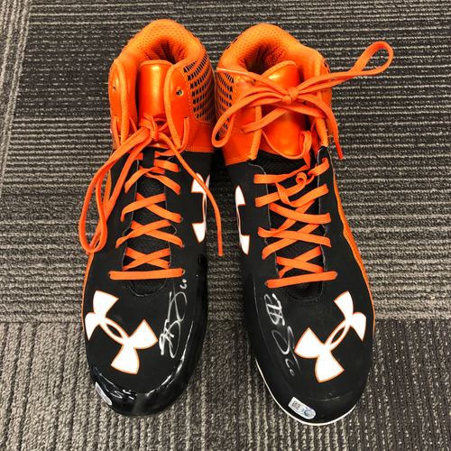 Photo of Autographed Cleats - #60 Hunter Strickland - Size 13