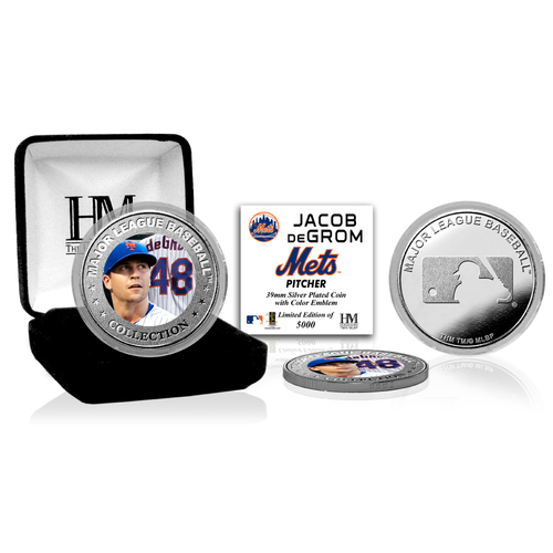 Serial #1! Jacob deGrom Silver Color Coin