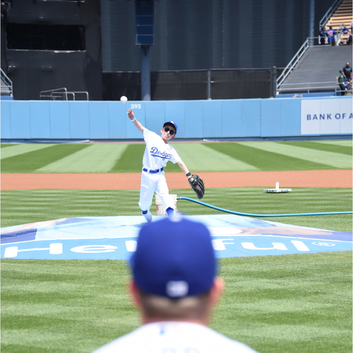 Photo of Throw out the First Pitch at Dodger Stadium