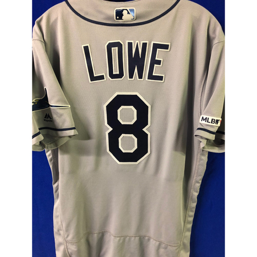 Game Used 2-HOME RUN Road Jersey: Brandon Lowe - April 12, 2019 at TOR
