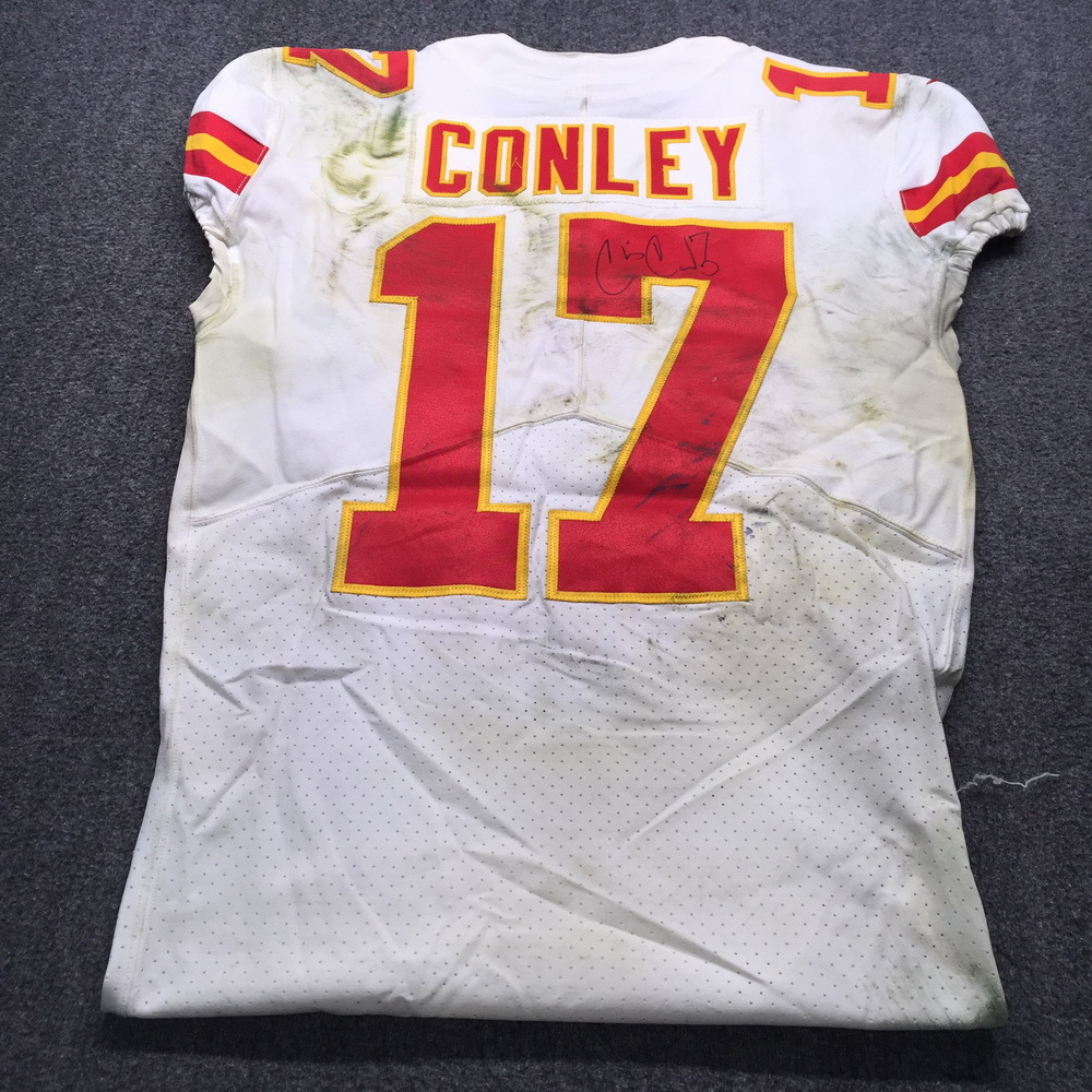 NFL Auction   NFL - Chiefs Chris Conley Signed Historic MNF Game ...