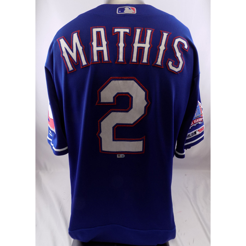 Blue Game-Used Jersey - Jeff Mathis - 9/5/19