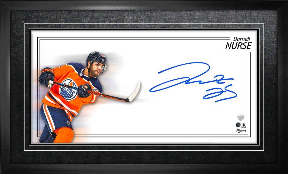 Darnell Nurse Signed 8x16 Framed Oilers Oversize Autograph
