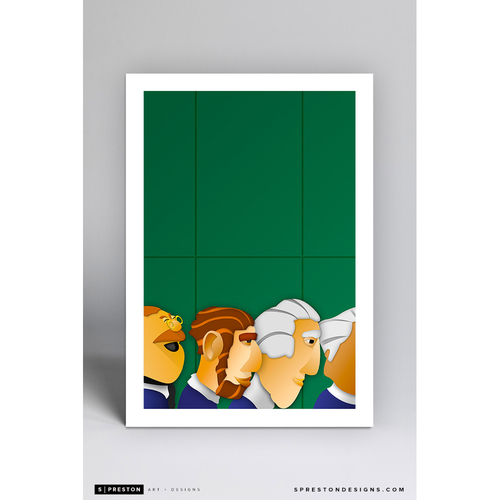 Photo of Nationals Park - Minimalist Ballpark Art Print by S. Preston  - Washington Nationals