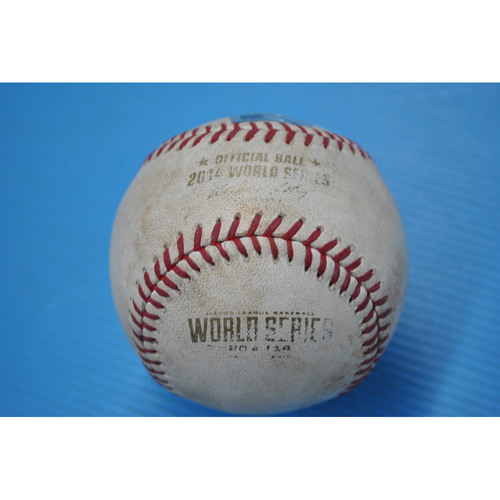 Photo of Game-Used Baseball - 2014 World Series - Game 4 - Pitcher: Ryan Vogelsong, Batter: Eric Hosmer - RBI Infield Single - 3rd Inning