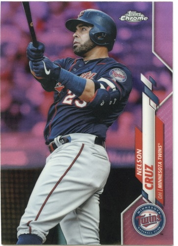 Photo of 2020 Topps Chrome Pink Refractors #69 Nelson Cruz
