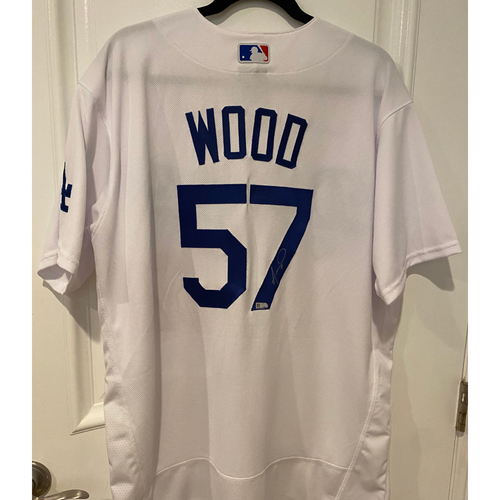 Photo of Alex Wood Authentic Autographed Los Angeles Dodgers Jersey