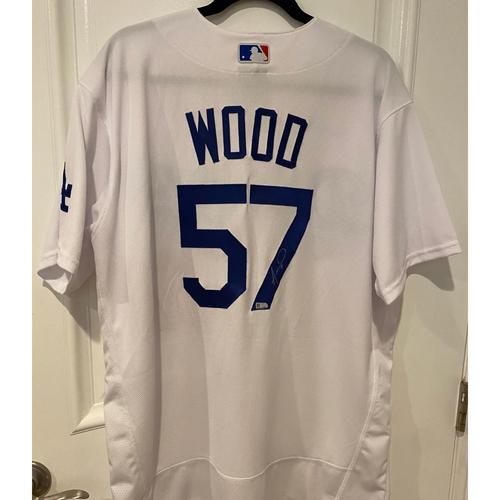 Photo of Alex Wood Authentic Autographed Los Angeles Dodgers Jersey