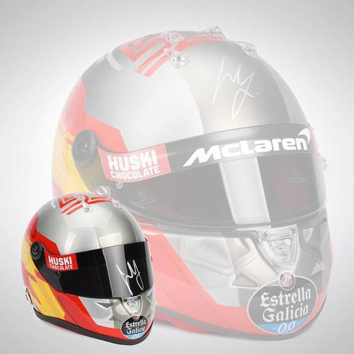 Photo of Carlos Sainz 2020 Signed 1:2 Scale Helmet