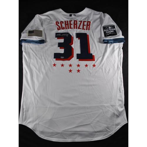 Photo of Max Scherzer 2021 Major League Baseball All-Star Game Autographed Jersey