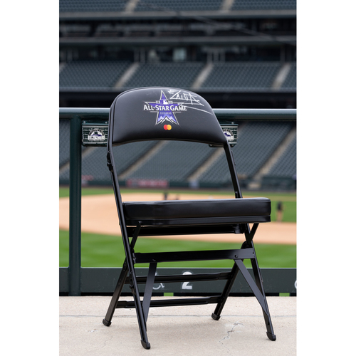 Photo of 2021 Celebrity Softball Game Autographed On Field Chair - El Alfa