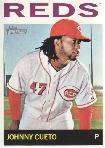 Photo of 2013 Topps Heritage #330 Johnny Cueto