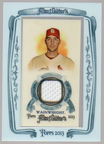 Photo of 2013 Topps Allen and Ginter Framed Mini Relics #AW Adam Wainwright