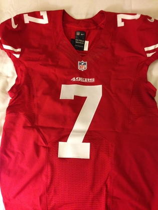 huge discount 29c9b f4c3b NFL Auction | COLIN KAEPERNICK GAME WORN 49ERS JERSEY ...