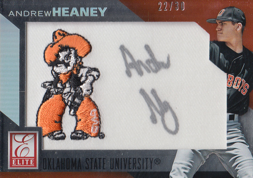 Photo of 2015 Elite Collegiate Patches Autographs Silver #3 Andrew Heaney/30