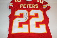 STS - CHIEFS MARCUS PETERS GAME WORN AND SIGNED CHIEFS JERSEY (NOVEMBER 6, 2016)