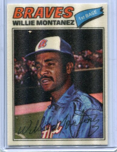 Photo of 1977 Topps Cloth Stickers #29 Willie Montanez