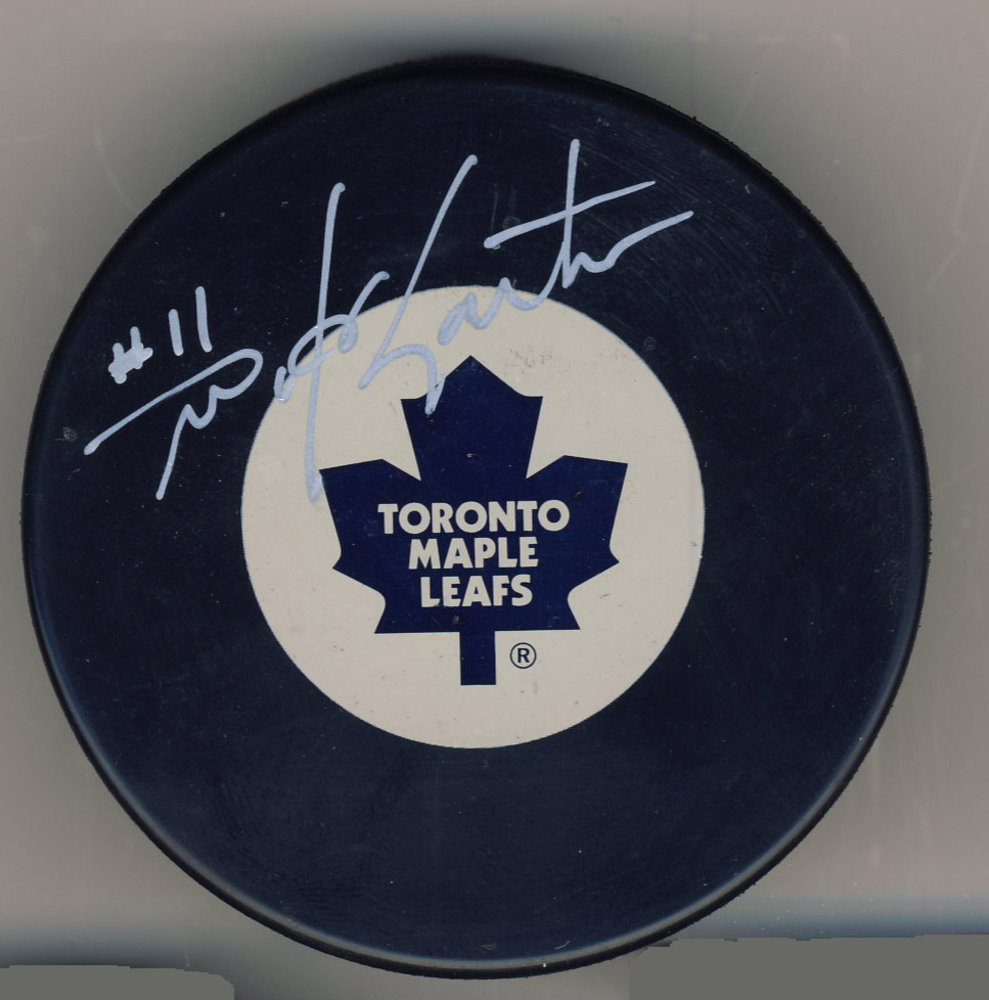 MIKE GARTNER Toronto Maple Leafs Autographed Hockey Puck