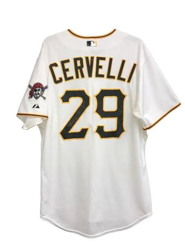 Photo of Francisco Cervelli Autographed Game-Used Jersey - 1 for 3, Run Scored