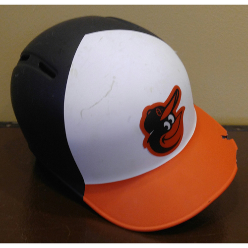 Photo of Right-Handed Home Batting Helmet - Size 7 1/4: Team-Issued