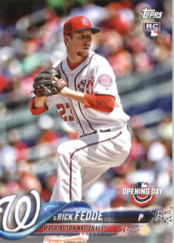 Photo of 2018 Topps Opening Day #133 Erick Fedde