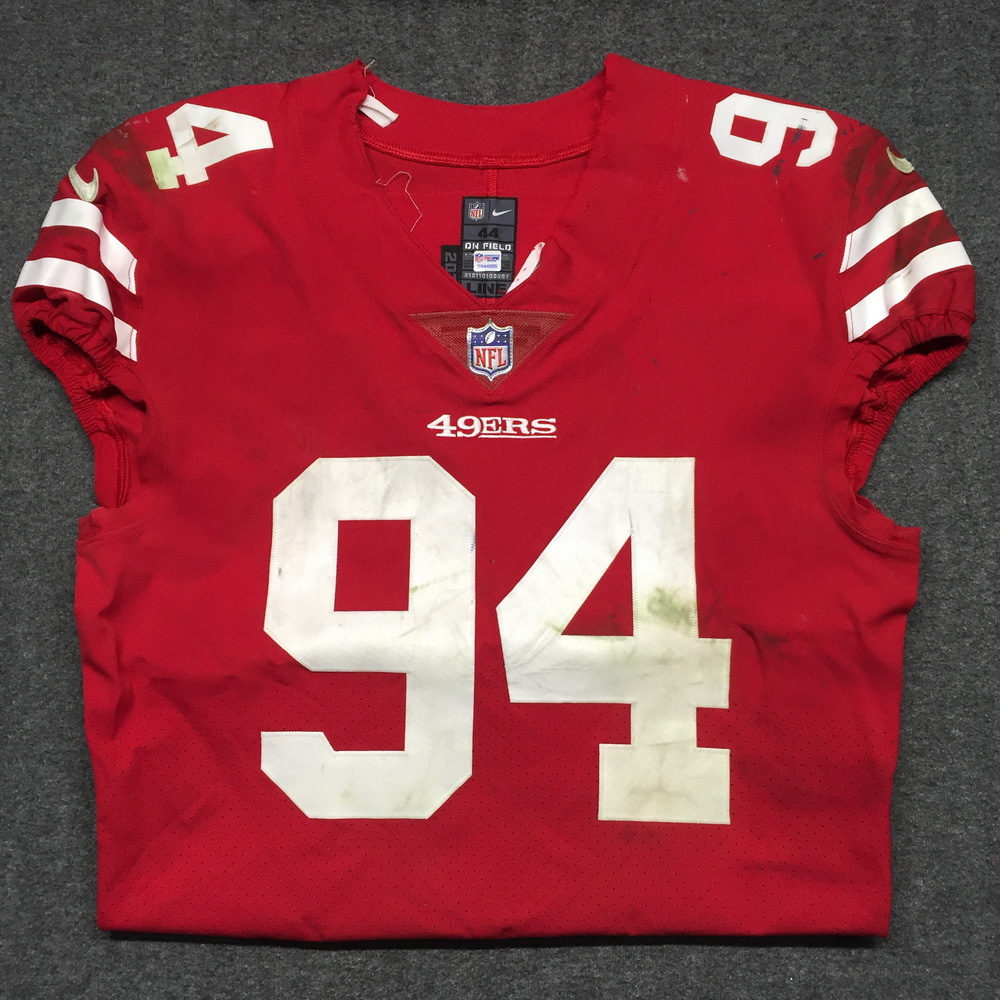 ff09c0c2a STS - 49ERS SOLOMON THOMAS GAME WORN 49ERS JERSEY (NOVEMBER 26, 2017) SIZE