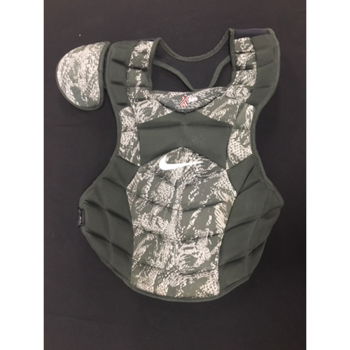 Photo of Tucker Barnhart -- Team-Issued -- Memorial Day Game Chest Protector