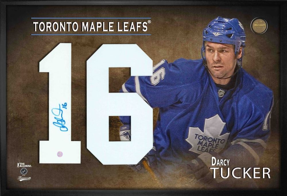 Darcy Tucker Signed Jersey Number Framed Print Maple Leafs