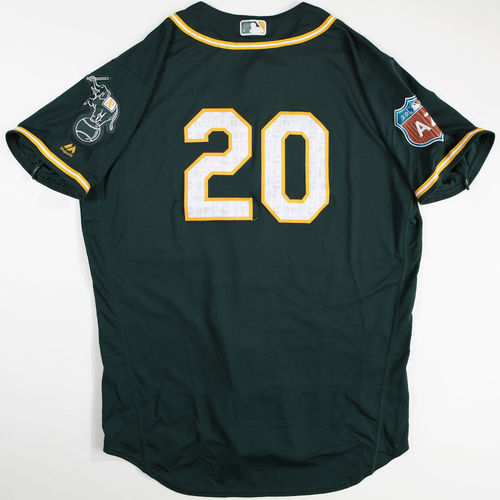 Photo of 2016 Spring Training - Spring Training Game Used Jersey - Mark Canha (Athletics)- Size- 48