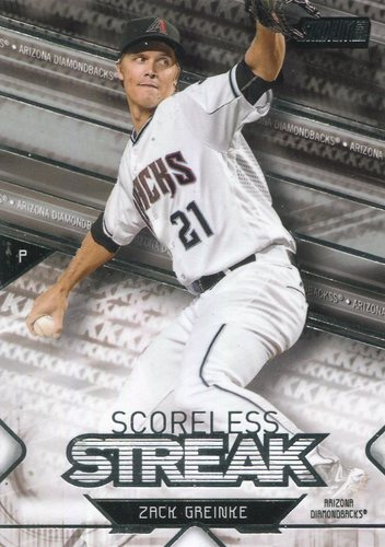Photo of 2017 Stadium Club Scoreless Streak #SSZG Zack Greinke