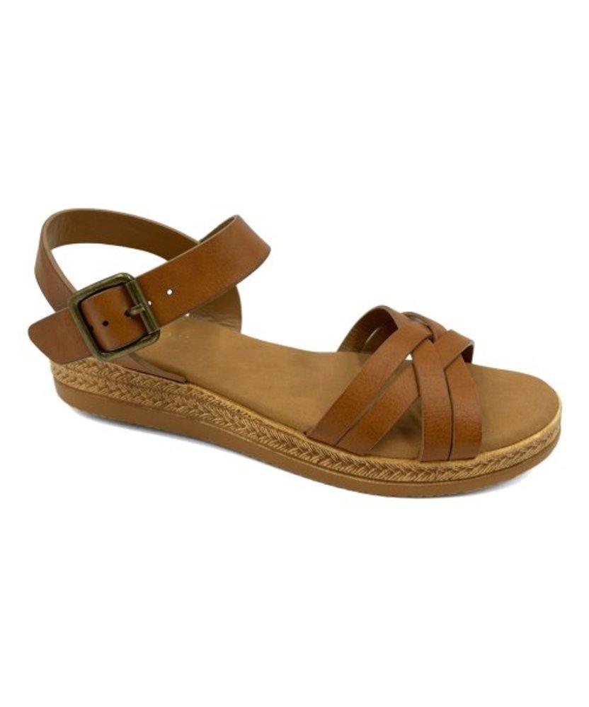 Photo of Bamboo Variety Front Cross Platform Sandal